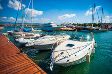 Speedboats In Harbor, Cyprus, ...