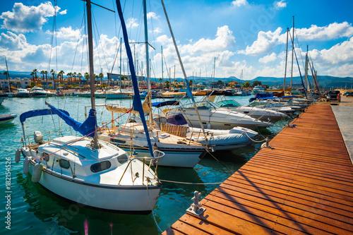 Carta da parati Pleasure boats, Cyprus, Paphos district