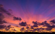 Dramatic Colorful Twilight Sky...