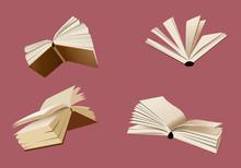 Flying Books Vector Illustration