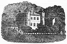 Ancient Rough Illustration Of A Big Medieval Residence Surrounded By The Forest, Alphonse De Lamartine Country House. Old Illustration By Unidentified Author, On Magasin Pittoresque Paris 1834