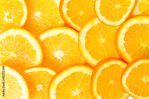 Photo Stands Slices of fruit Bunch of orange fruit slices pile