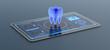 canvas print picture - futuristic medical app