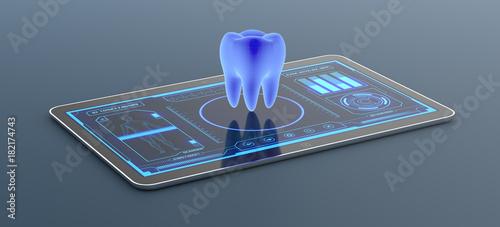 Stampa su Tela futuristic medical app