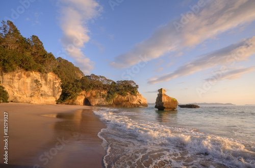 Coromandel Cathedral Cove Early Morning Light