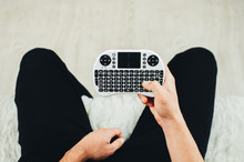 Hands, Hold And Click Mini Keyboard