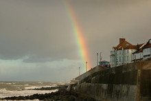 Tęcza Nad Wybrzeżem Norfolk ...