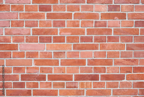 Photo sur Toile Brick wall Red bricks wall background. Wall of old building useful as backdrop