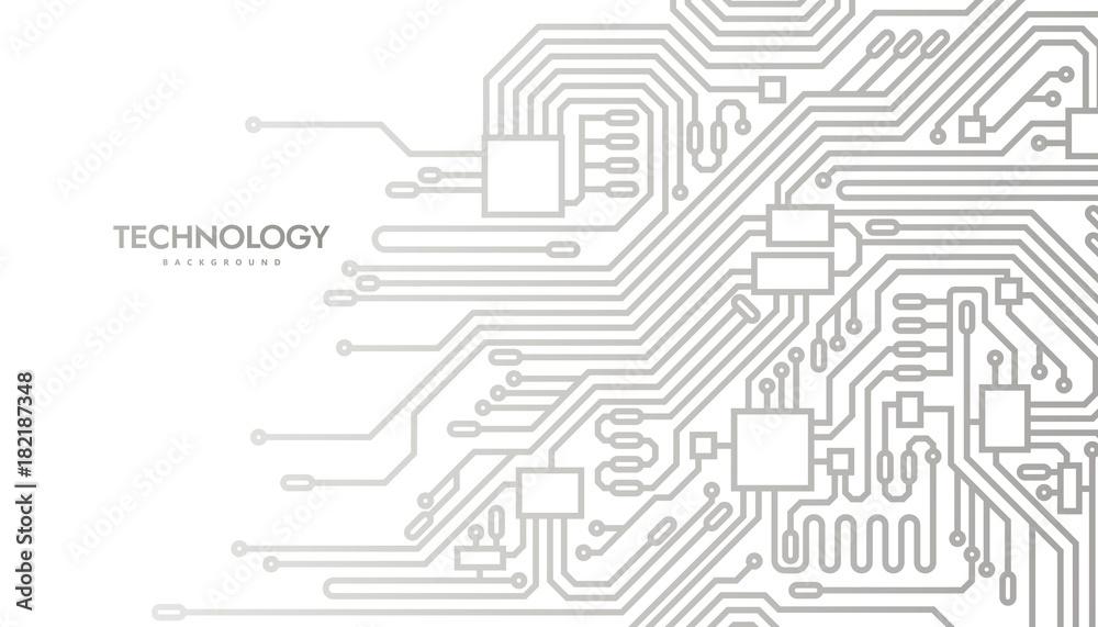 Fototapeta Circuit board abstract background