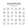 Set line icons of shopping