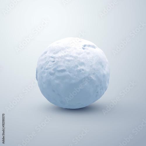 Obraz na plátně Realistic snowball. Vector seasonal illustration.