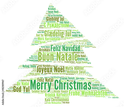 Merry Christmas In Different Languages.Merry Christmas In Different Languages Word Cloud Buy This