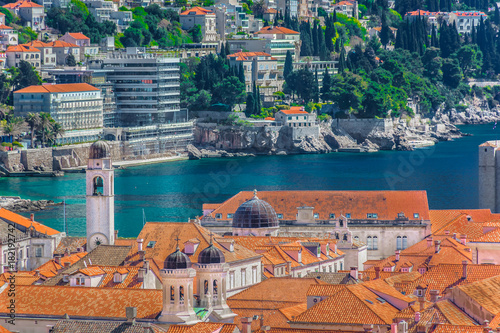 Photo  Dubrovnik architecture aerial view
