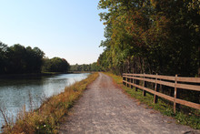 Towpath On The Erie Canal In Th Autumn