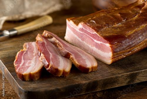 Obraz na plátně  Whole Smoked Slab Bacon