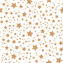 Seamless Pattern With Gold Stars. Background Vector Eps 10.