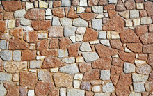 Abstract Image Of A Brown Colored Stone Wall Background