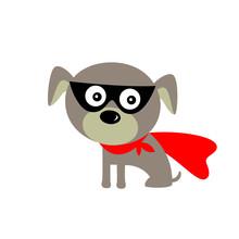 Cute Superman Puppy Vector