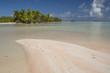 pink sand of rangiroa atoll