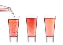 Pouring Pink Soda Lemonade Fro...
