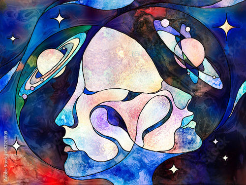 Wall Murals Watercolor Skull Worlds of Each Other