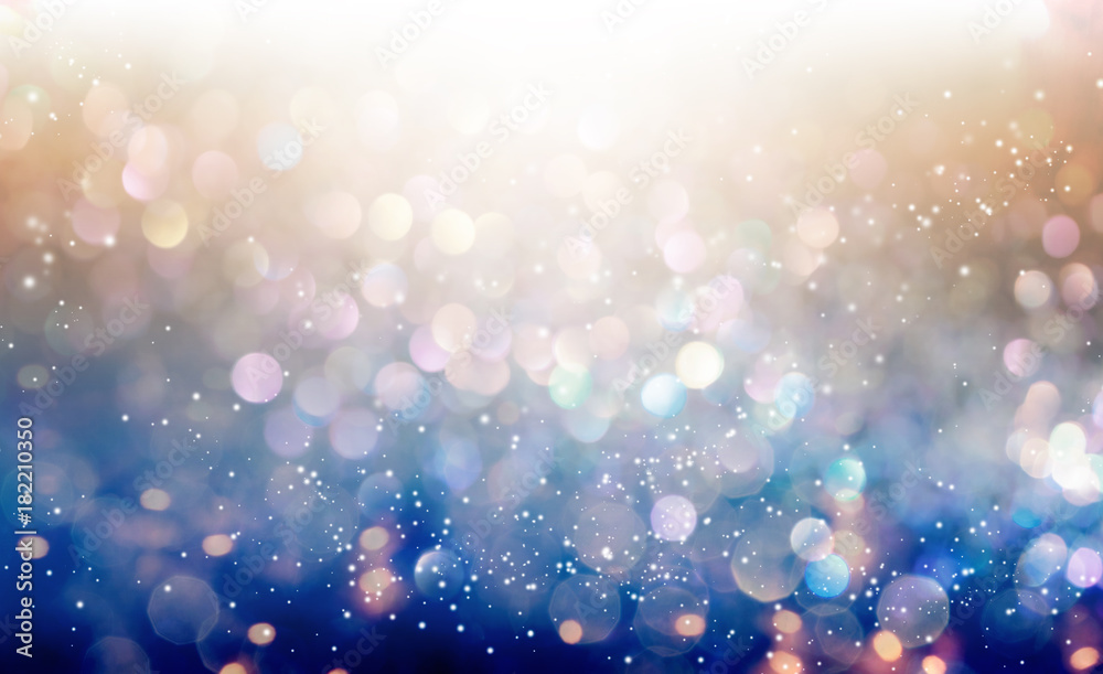 Fototapety, obrazy: Beautiful abstract shiny light and glitter background