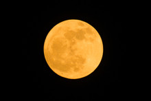 The Detail Of Yellow Full Moon...