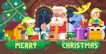 Santa Claus In A Workshop