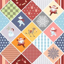 Christmas Seamless Patchwork P...