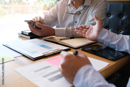 Fototapeta Business People Meeting Design Ideas professional investor working new start up project. Concept. business planning in office obraz