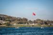 Traditional public ferry going from Kadikoy to Eminonu pier.ISTANBUL,TURKEY,APRIL 20,2017