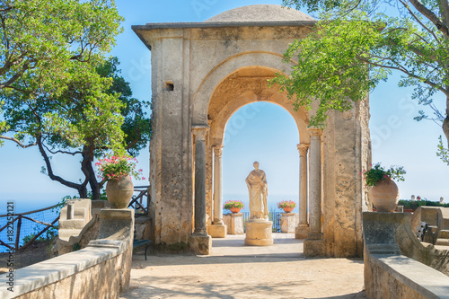 Photo beautiful details of Ravello village at summer, Amalfi coast of Italy