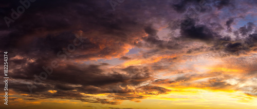 Foto op Aluminium Aubergine Background of cloudy in morning sky