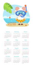 Calendar 2018 Year. Week Start...