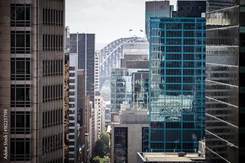 fototapeta na drzwi i meble View Down Pitt St