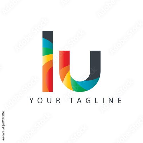 Initial Letter LU Design Logo Fototapete