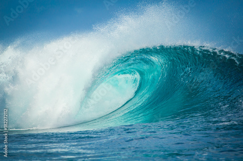 Door stickers Water Vague de Teahupoo