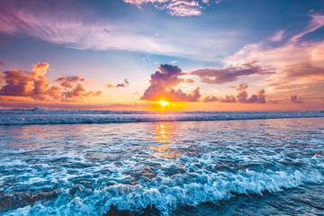 Obraz na Szkle Sunset over ocean