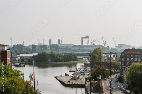 Über den Dächern von Emden - Altstadt Emden Canvas Print