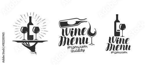 Wine, winery logo or icon, emblem Fototapet