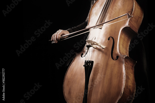 Poster Musique Cello player. Hands cellist playing violoncello
