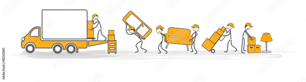 Fototapety, obrazy: déménagement