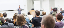 Male Speaker Giving Presentati...