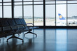 LISBON, PORTUGAL: Silhouetted lisbon airport terminal views