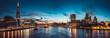 Leinwanddruck Bild - The banks of river Thames