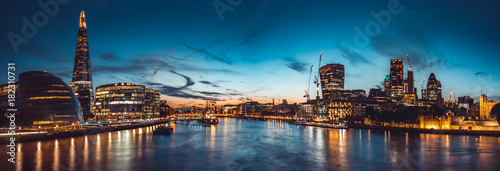 Poster Central Europe The banks of river Thames