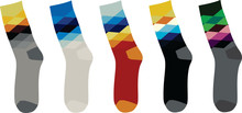 Colorful Sock. Argyle Pattern....