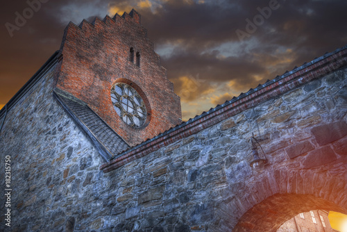 Photo  fortress of Akershus - a castle in Oslo