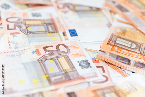 Foto op Aluminium Imagination Banknotes of the european union