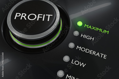 Fotomural Maximum profit concept